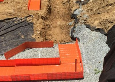 Bad trench? No problem! With Novoform™ you will always use just the right amount of concrete you need, no more overfilling or uneven foundations! – North Carolina