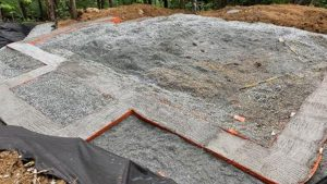 Once the concrete is poured, your footer is complete! No removing forms!